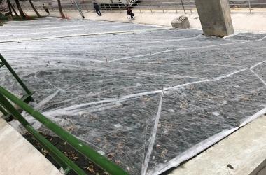 erosion control mat and hydroseeding (2)